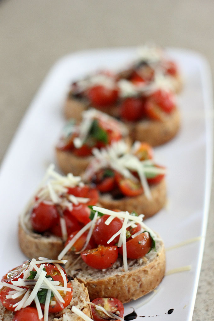 Bruschetta with Balsamic Glaze Recipe