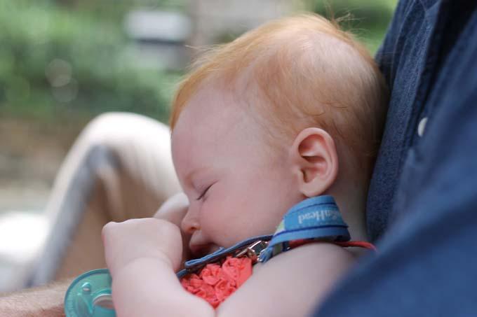 Sleepy Baby Tourist