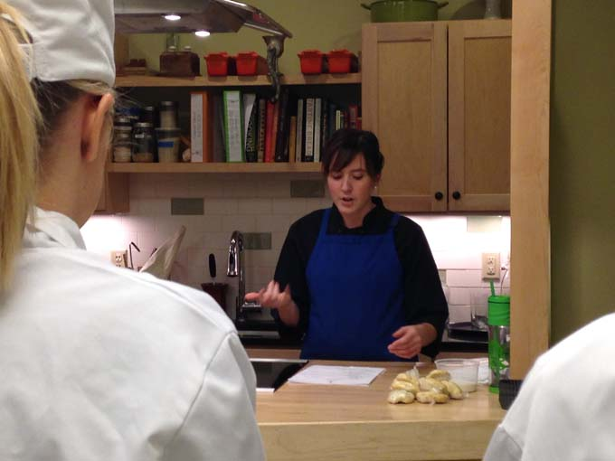 Pastry Chef Molly was the teacher for desserts week at Braise Culinary School