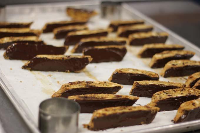 Chocolate-Dipped Cranberry Hazelnut Biscotti