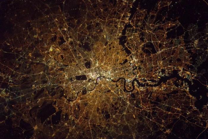 londres espace ISS ville