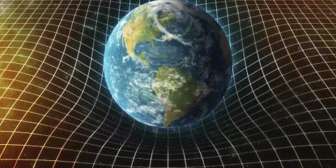 courbure espace temps terre relativité einstein