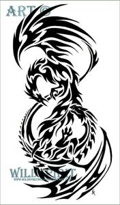 Original artwork Dark Phoenix stole their logo from