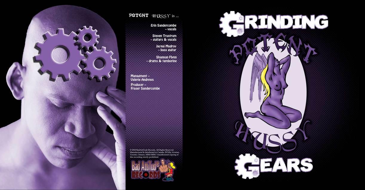 Steven Trustrum Graphic Design Potent Hussy CD Booklet