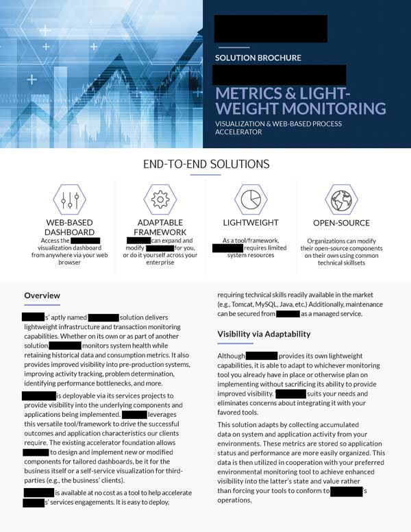Steven Trustrum IT Monitoring Brochure