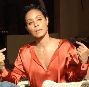 Jada Pinkett Smith discusses her boycott plans in a widely circulated video. (Screenshot from Facebook video.)