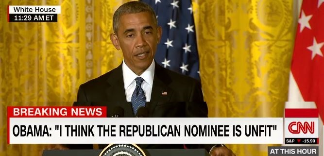 Obama Says Trump 'Unfit' For Presidency (Video)