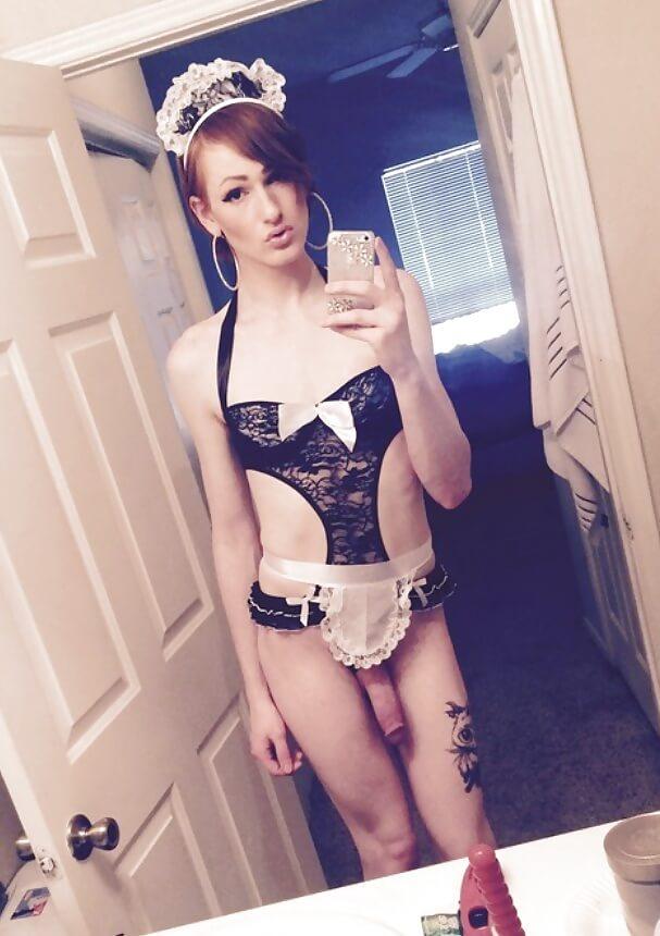 young crossdresser traps selfie