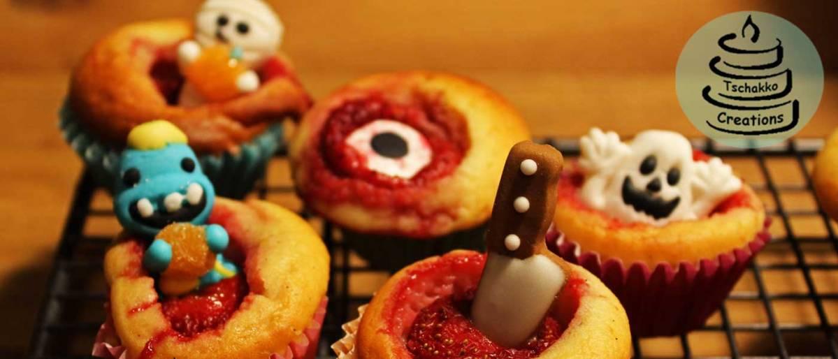 Süßes oder Saueres? - Gruselige Erdbeer-MiniMuffins