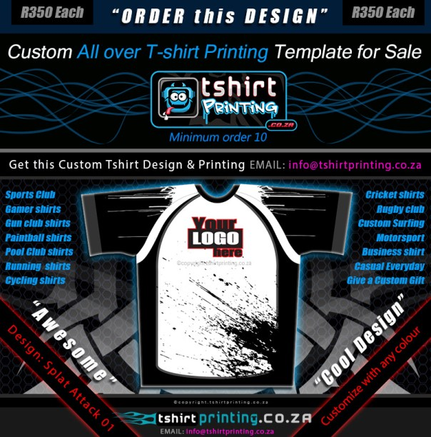 All over print t shirt design templates for Design attack