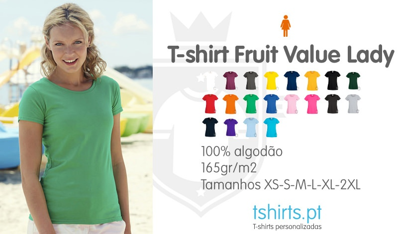 T-shirt fruit value lady