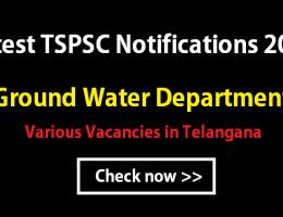 TSPSC Groundwater department notification 2016