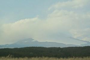 天気よかったのに富士山は雲の帽子