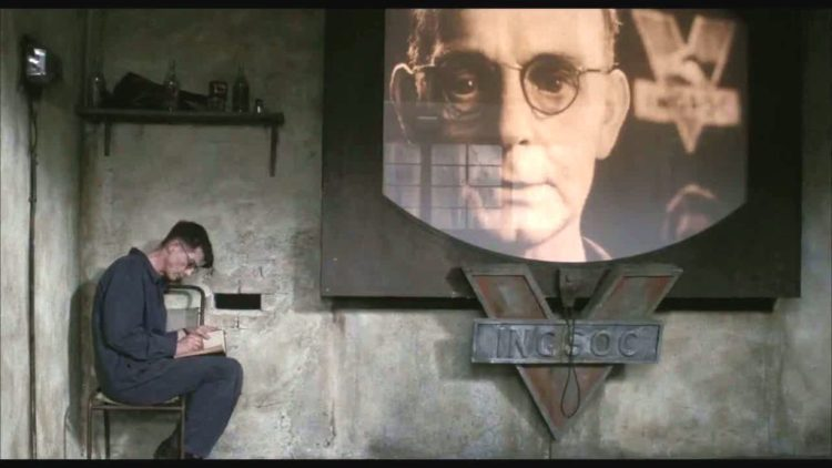 John Hurt in dystopian film 1984