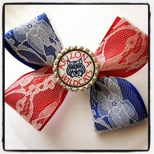 university of arizona hair bow What to Wear on University of Arizona Game Day   LITTLE GIRLS