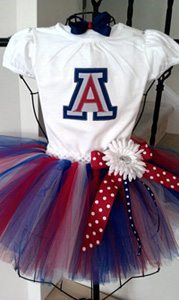 university of arizona tutu What to Wear on University of Arizona Game Day   LITTLE GIRLS