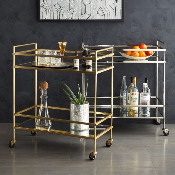 tuenight gift guide brian quinn liquor bar cart