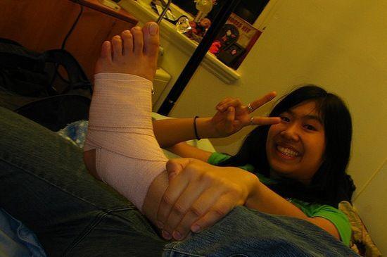 tobillo lesionado