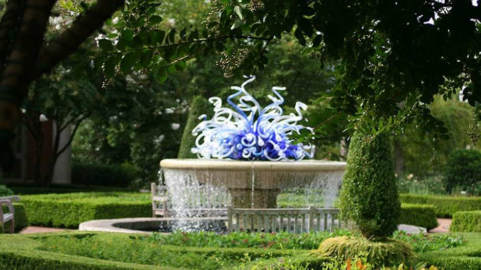 atlanta botanical garden wilmer fountain