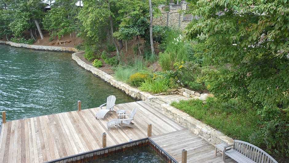 dock and perennial planting in north Georgia