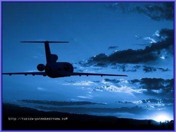 Как облегчить ночной перелёт - самолёт в ночном небе