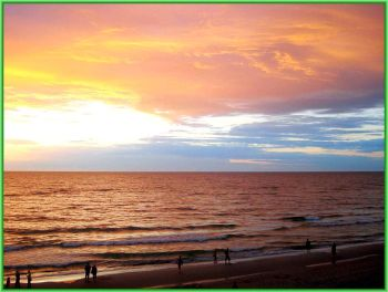 Берег Балтийского моря на закате - baltijskoe-more