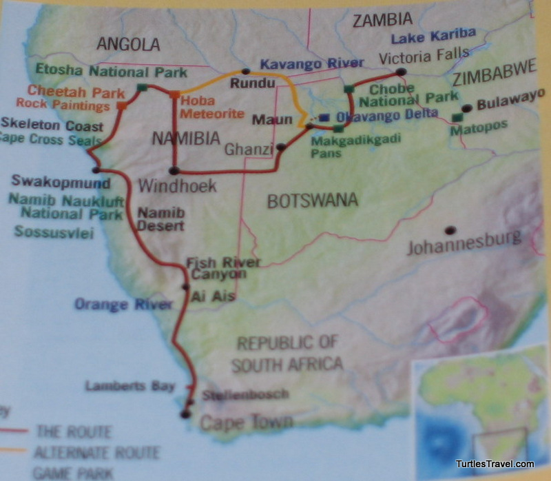 Nambia Nomad Route