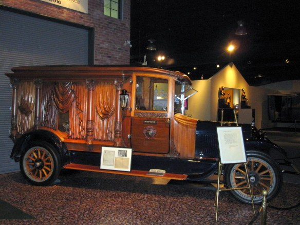 Ornately Carved, Wood-Paneled Hearse