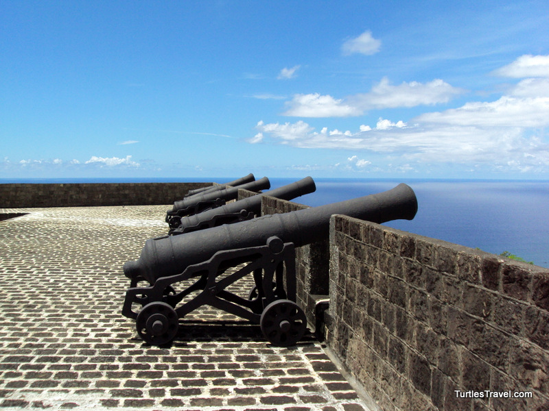 St. Kitts Cannon at Brimstone Hill Fortress