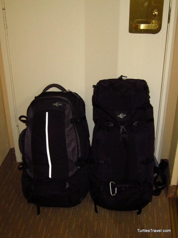 Backpacks packing