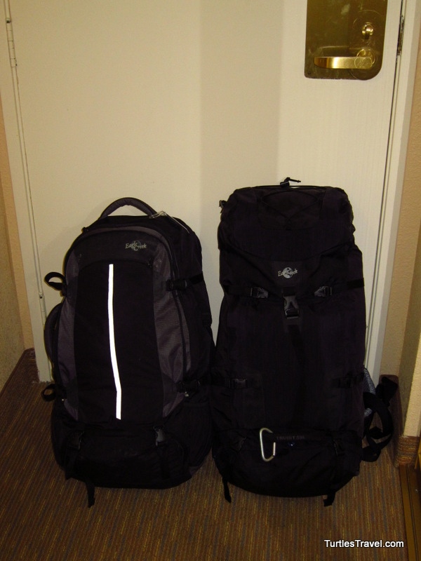 Backpacks packing