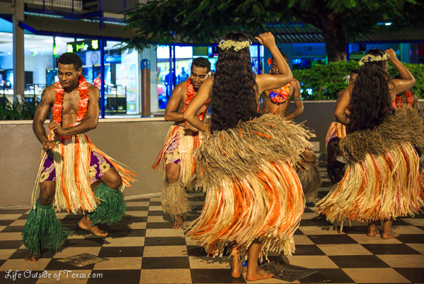 Our favorite dance performance was the hula dancers in Fiji. They were so beautiful and we just happened to be in the right place at the right time to see the show and it's one we will never forget!
