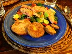 Salmon & Fried Green Tomatoes