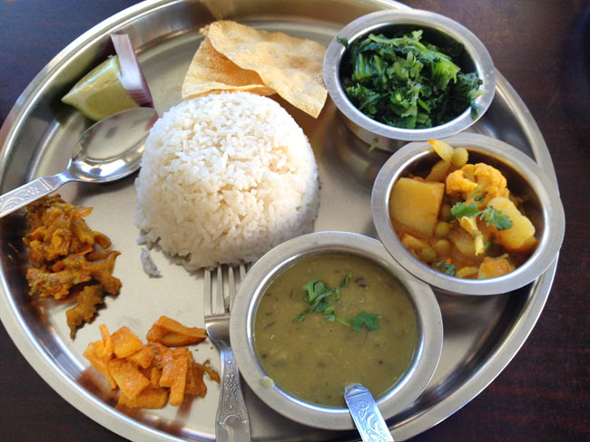 Thali from Lali Guras, Jackson Heights, Queens