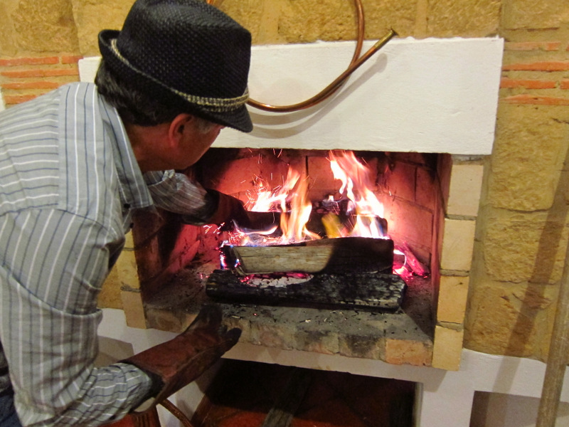 Cooking dinner, Villa de Leyva
