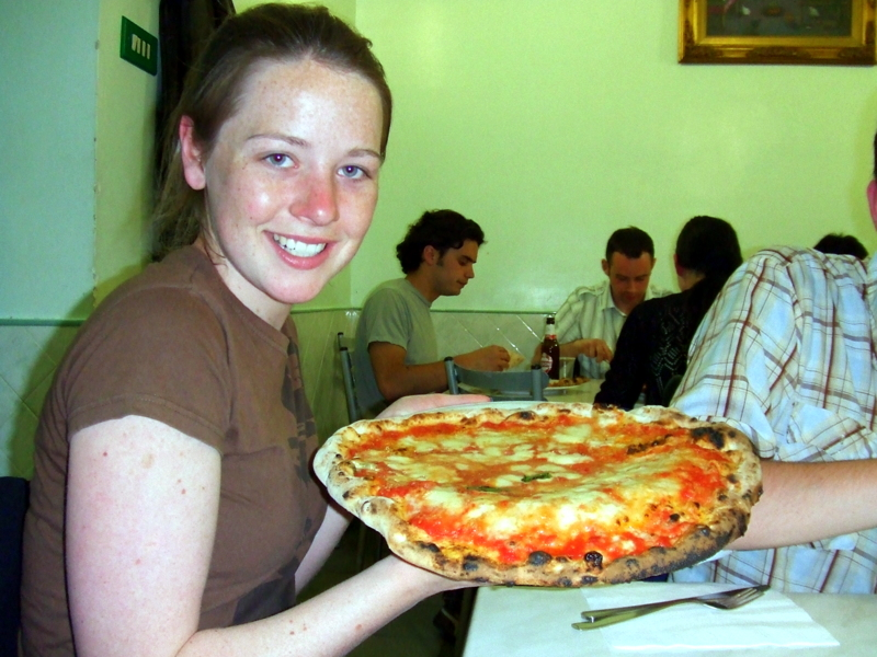 The pizza was as big as a hummer wheel!