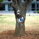 Tree Eyes Graffiti