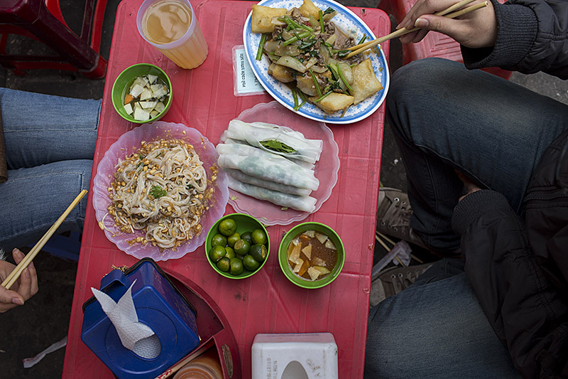 Beef Pho Rolls in Hanoi. By David Hagerman