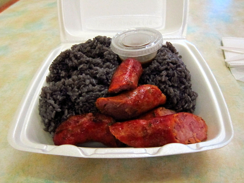 Sausage and Purple Rice