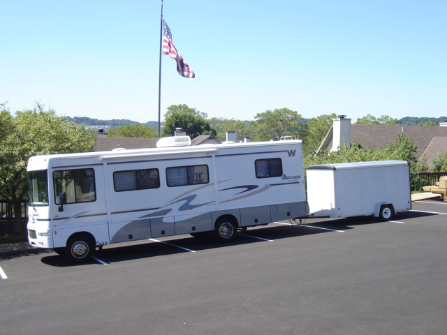 The RV before getting it's vinyl graphics. RV Travel