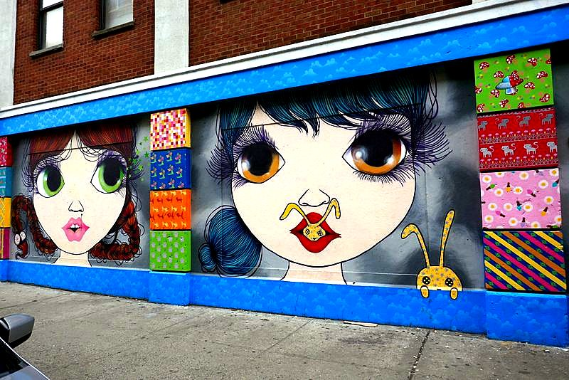 Artist: Nina Pandolfo Location: Rivington St. between Bowey and Chrystie (across from Morgenstern's ice cream shop!)