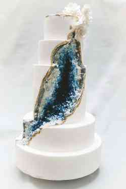 Small Of Geode Wedding Cake