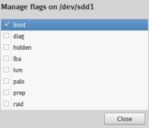Manage flags on -dev-sdd1_004