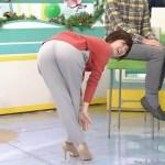 【お尻キャプ画像】タレントたちのお尻がパツンパツンでズボンが張り裂けそうww