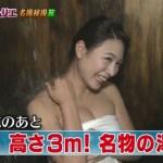 【温泉キャプ画像】テレビでギリギリまで映せるとこまで映しちゃう温泉レポってやっぱエロいなww