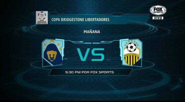 Pumas vs Táchira en Vivo Hoy Fox Sports Copa Libertadores 2016