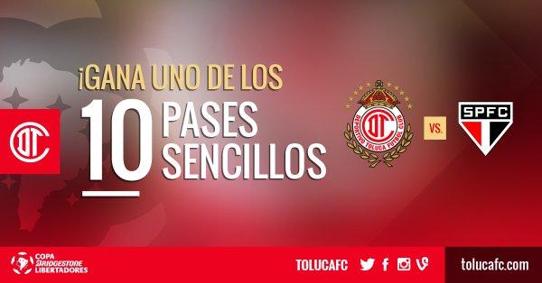 Toluca vs Sao Paulo Hoy Fox sports en Vivo Copa Libertadores 2016