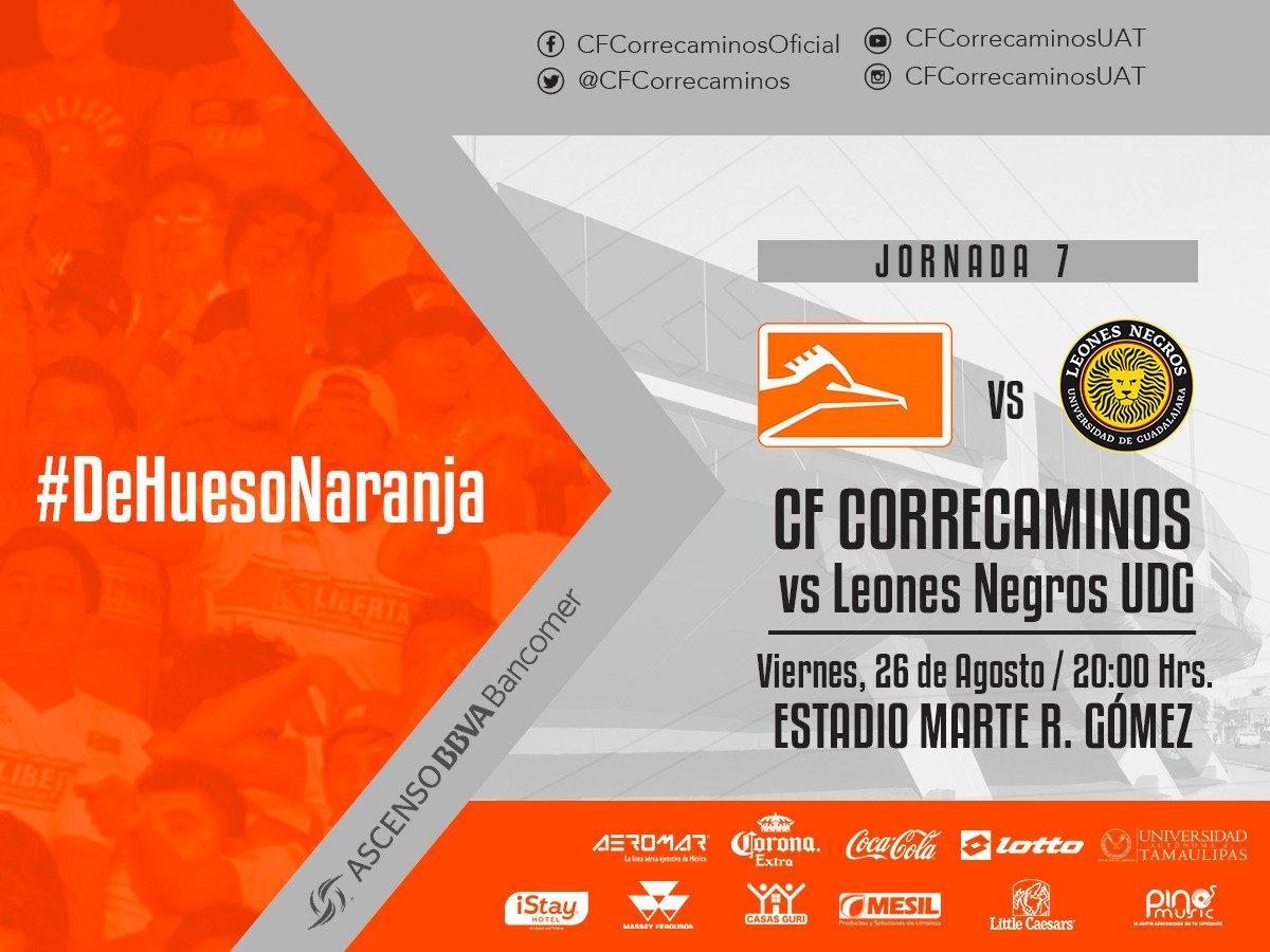 Correcaminos vs U de G en Vivo Ascenso MX 2016