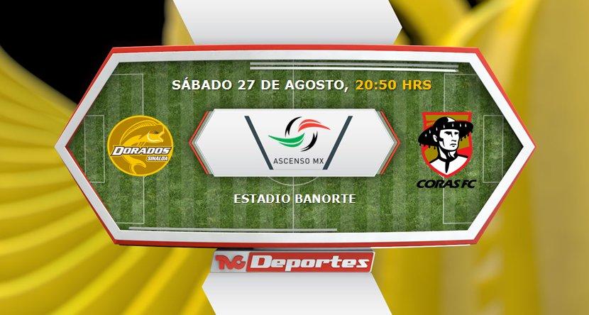 Dorados vs Coras en Vivo TVC Deportes Ascenso MX 2016