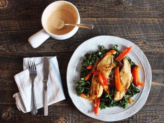 kale salad : tilapia